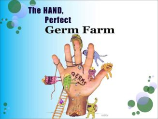 The Hand Perfect Germ Farm (germ monsters on hands)