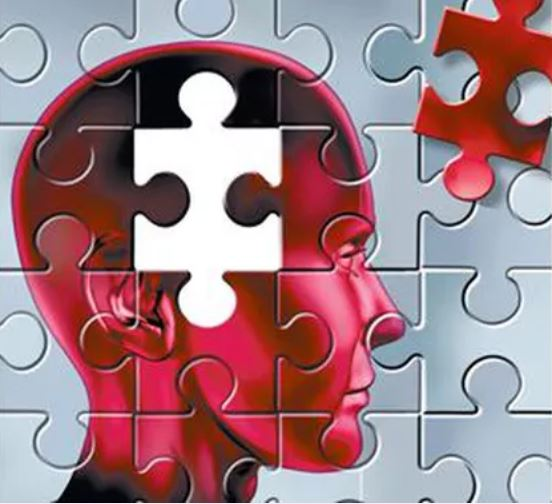 Graphic of person's head puzzle with one of the puzzle pieces to the side